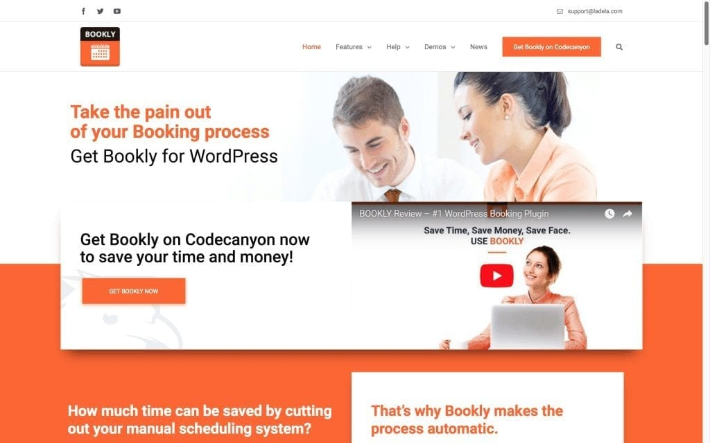 Bookly WordPress Plugin Home Page