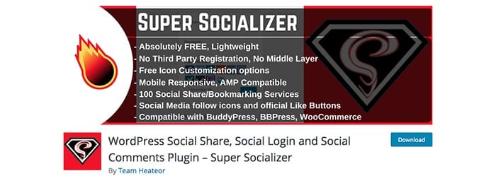 WordPress Social Share, Social Login and Social Comments Plugin – Super Socializer WordPress.org