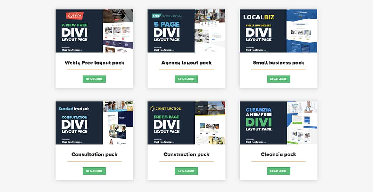 Mark Hendriksen Free Divi Theme Layouts