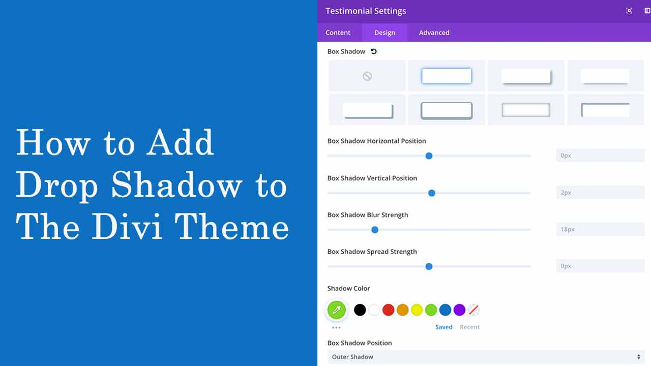 How to Add a Drop Shadow to the Divi Theme