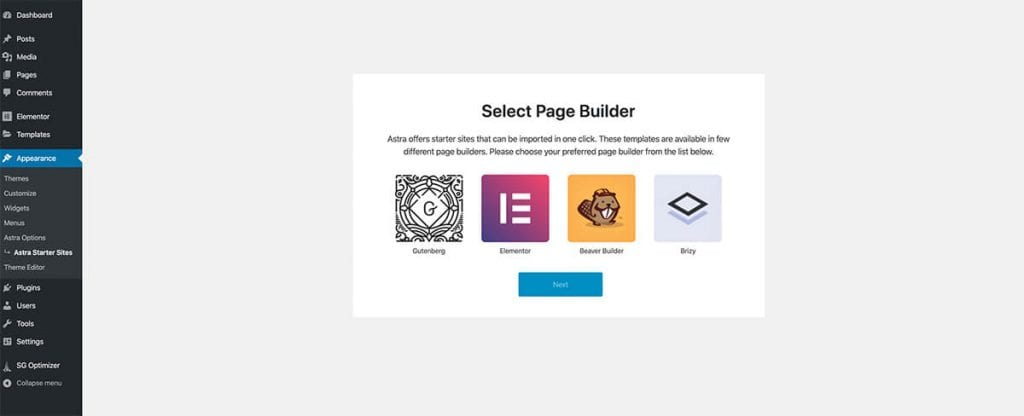 choosing a page builder
