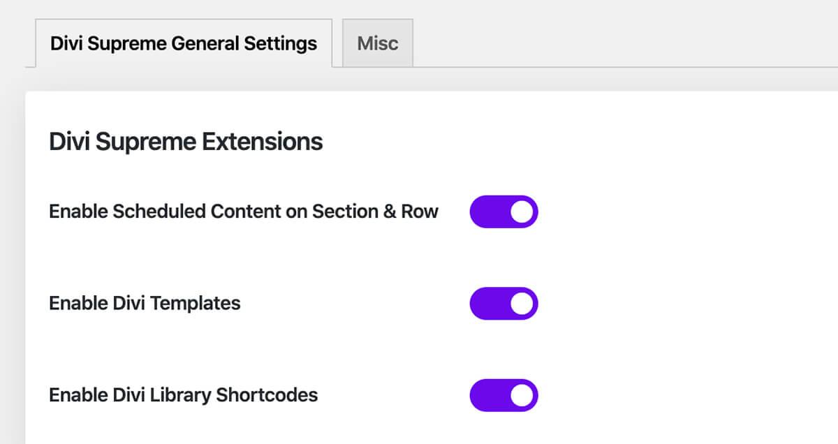 Divi Supreme Pro Extensions