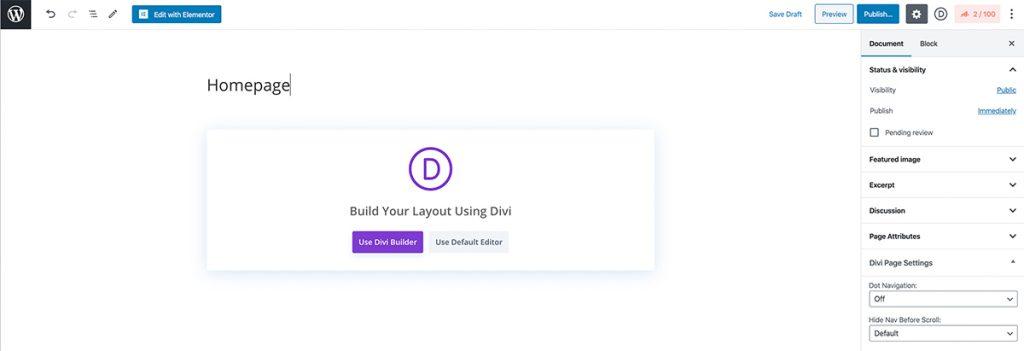 Creating a homepage