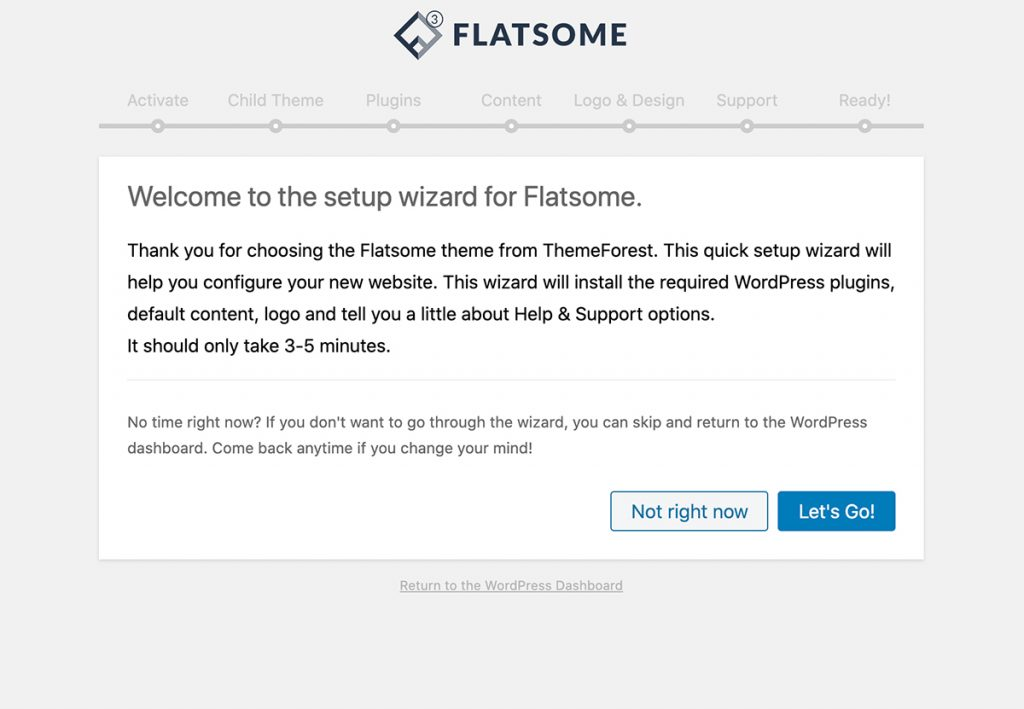 Setting up the Flatsome WordPress theme